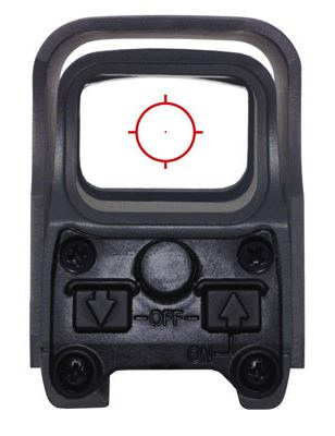 EOTech 512 POV through scope - HolographicSightGuide.com